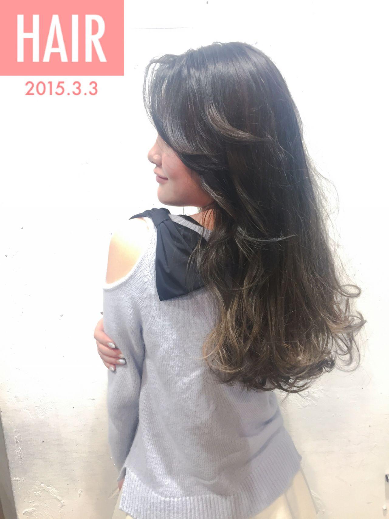 ロング ストリート 暗髪 ウェットヘア ヘアスタイルや髪型の写真・画像 | 【SHIMA】モチナガヤスヒロ / SHIMA daikanyama