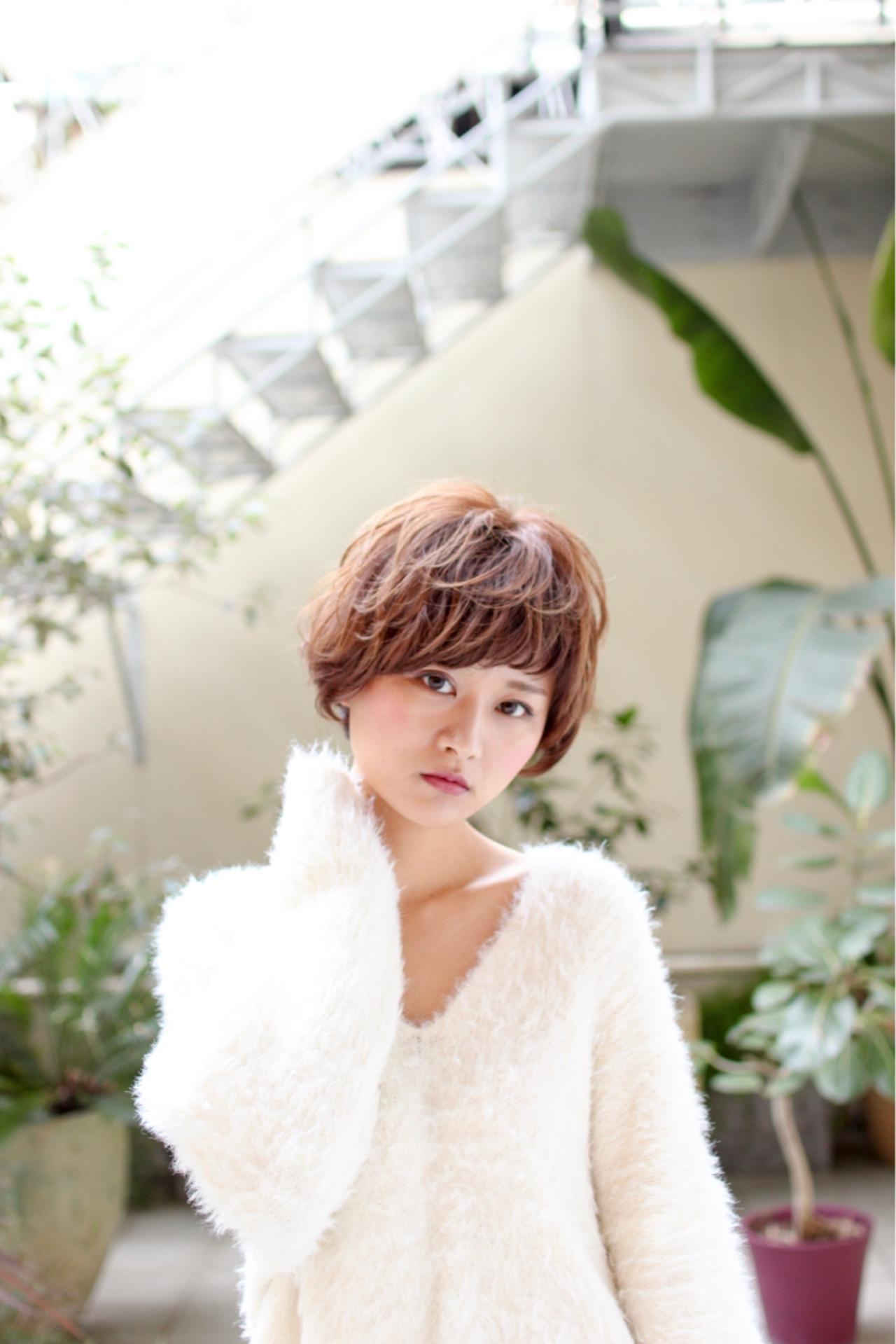 マッシュ ガーリー ボブ ゆるふわ ヘアスタイルや髪型の写真・画像 | 江畠 大地 / MAKE'S omotesando