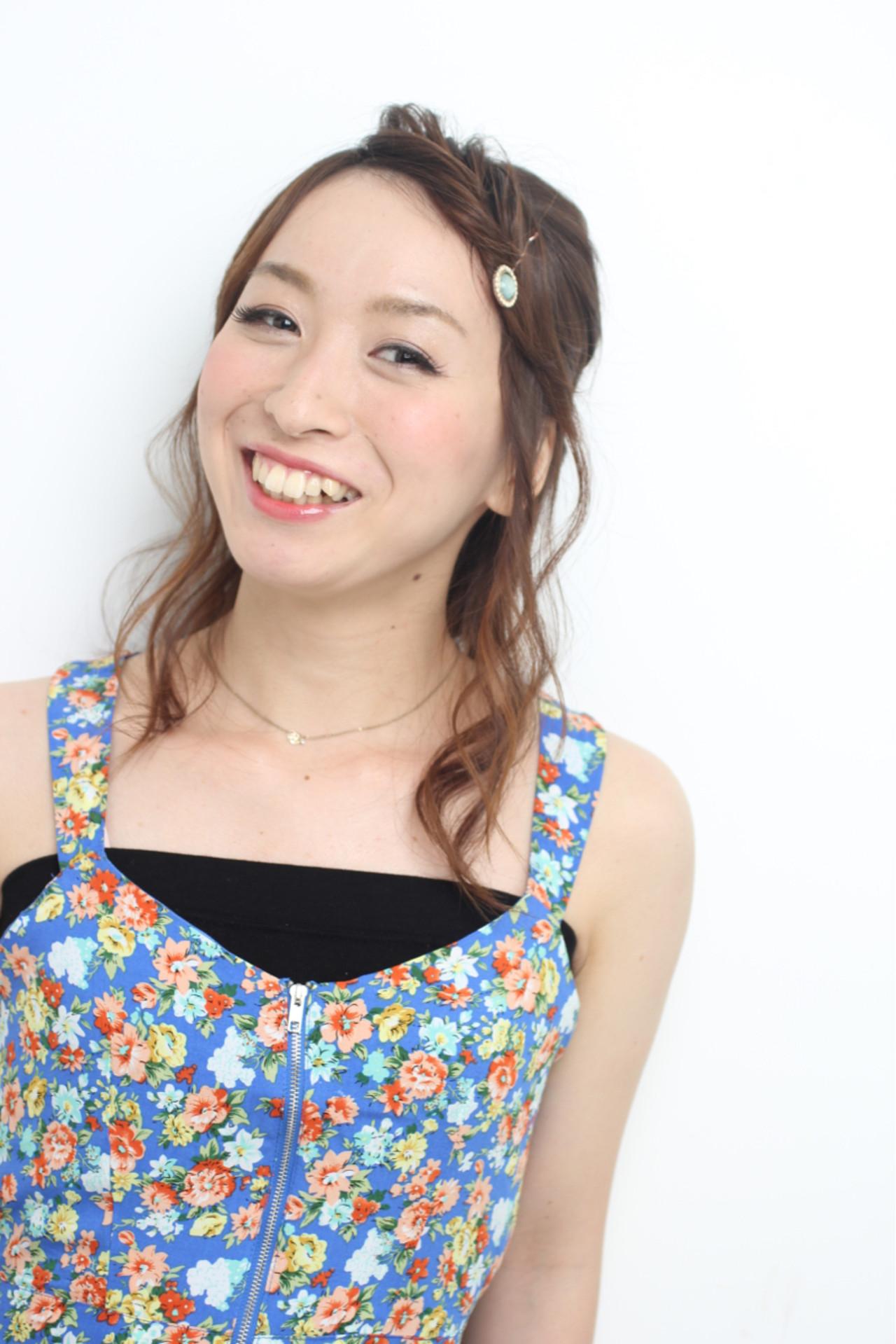ヘアアレンジ 簡単ヘアアレンジ 大人かわいい 夏ヘアスタイルや髪型の写真・画像