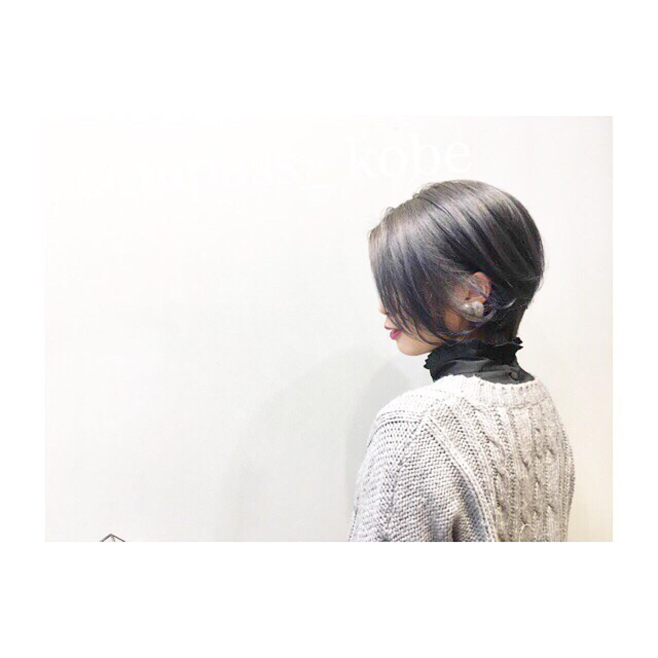 ショート ナチュラル ゆるふわ 愛され ヘアスタイルや髪型の写真・画像 | COM PASS 太一 / COM PASS