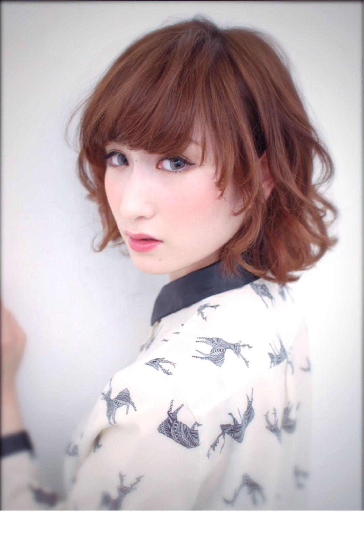 フェミニン ボブ 愛され 大人かわいい ヘアスタイルや髪型の写真・画像 | 高山 慎也 / MASTARD