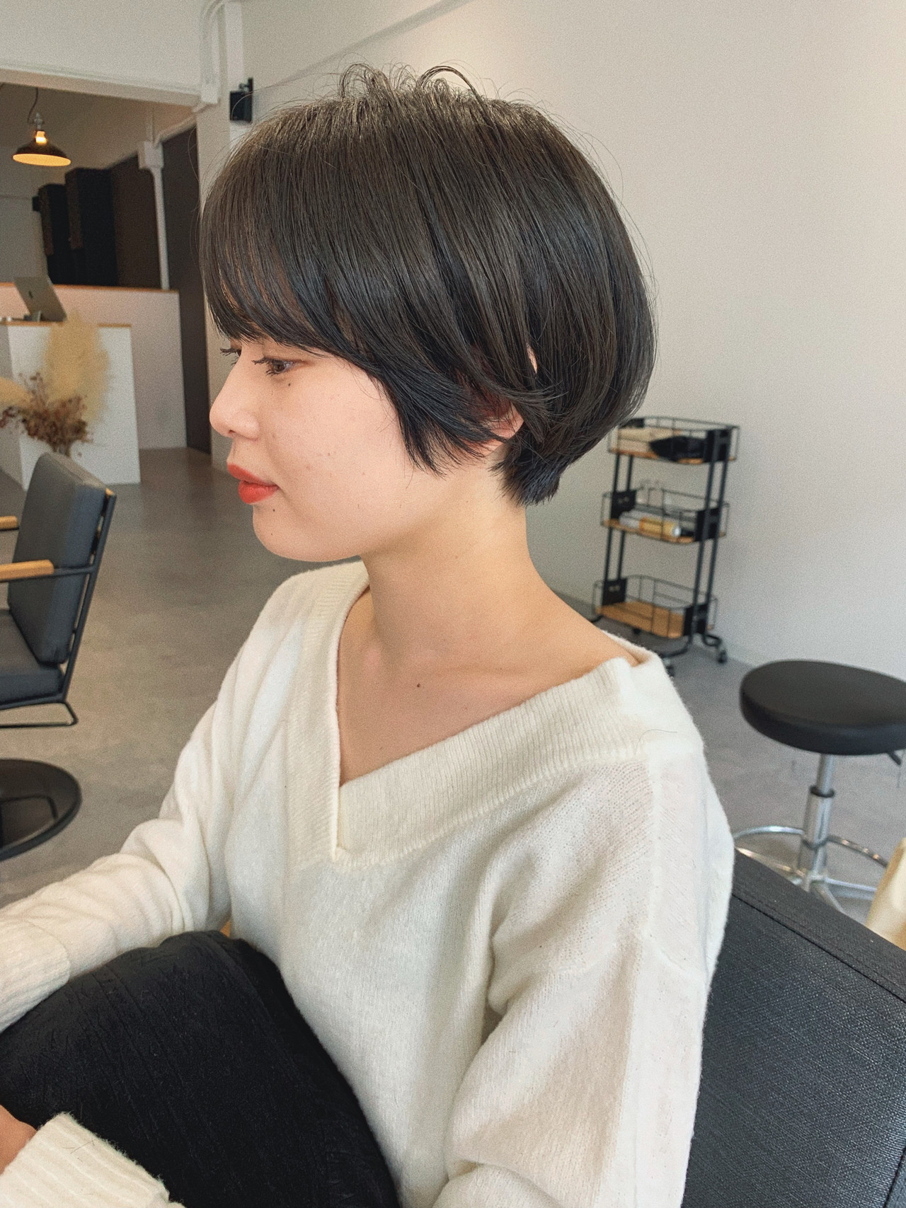 アウトドア 大人かわいい ショート デート ヘアスタイルや髪型の写真・画像 | YUJI / LIICHI / LIICHI (リイチ)