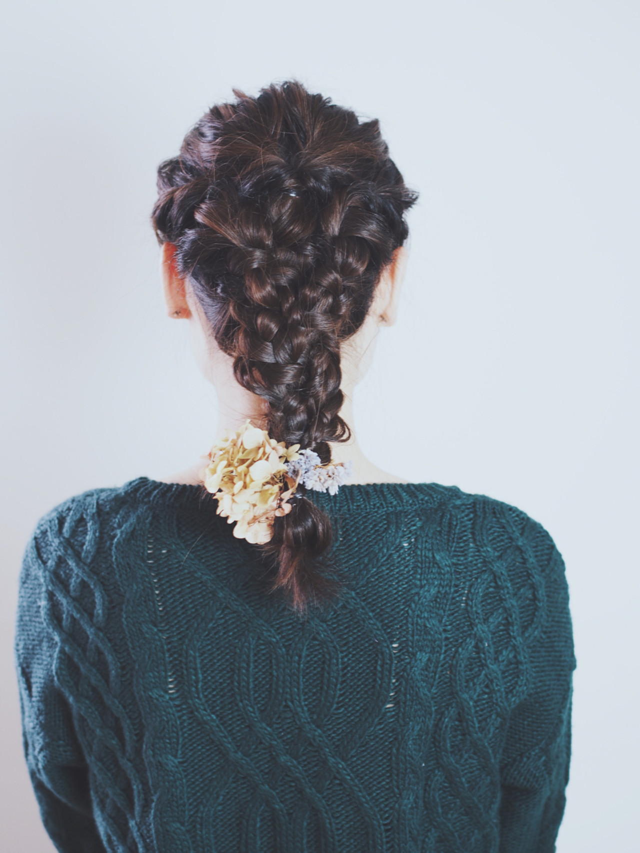 外国人風 結婚式 ヘアアレンジ 編み込み ヘアスタイルや髪型の写真・画像   Natsuko Kodama 児玉奈都子 / dydi