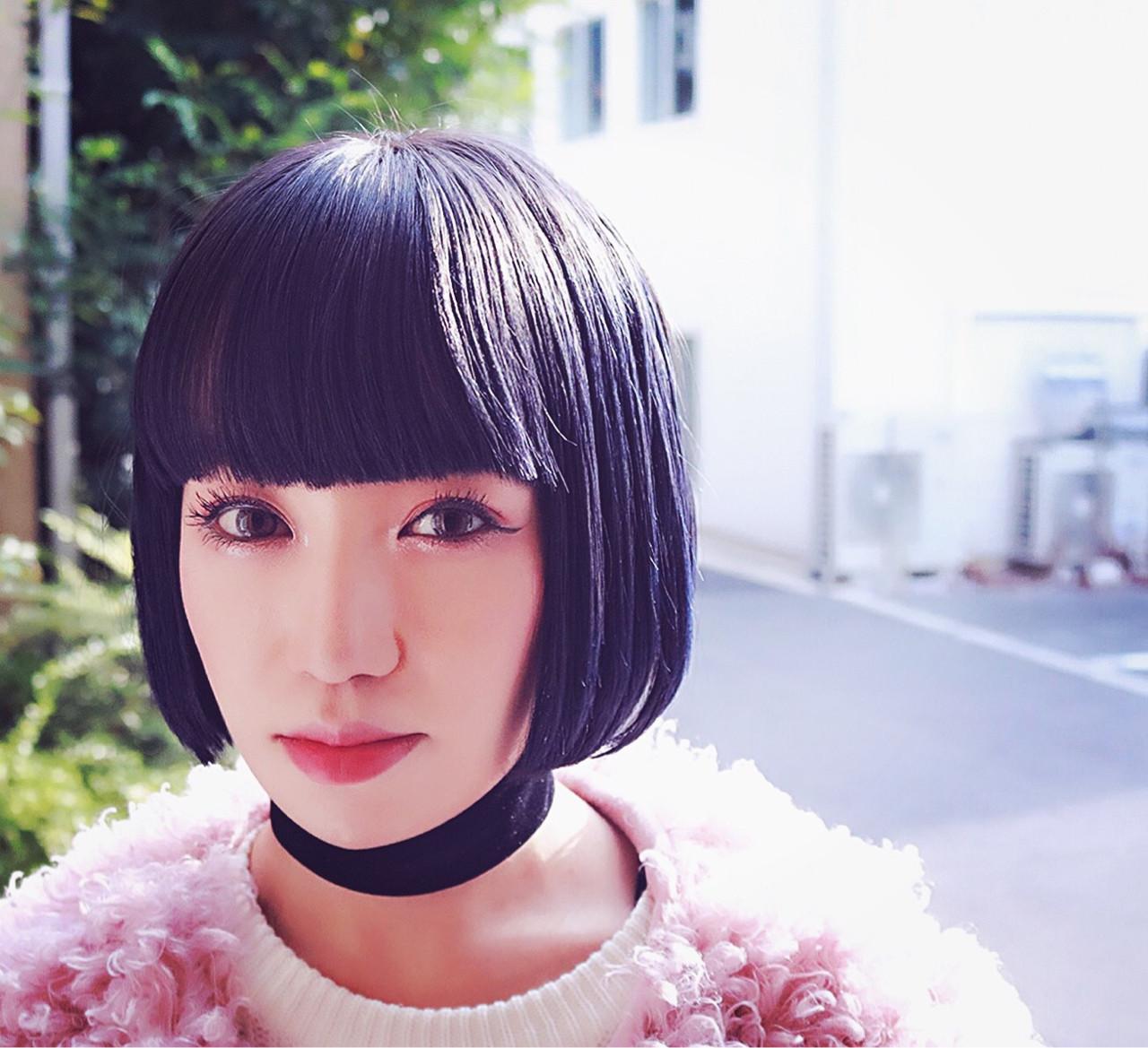 黒髪 アッシュ グラデーションカラー ストリート ヘアスタイルや髪型の写真・画像 | RUMINA //高田ゆみこ / Rumina