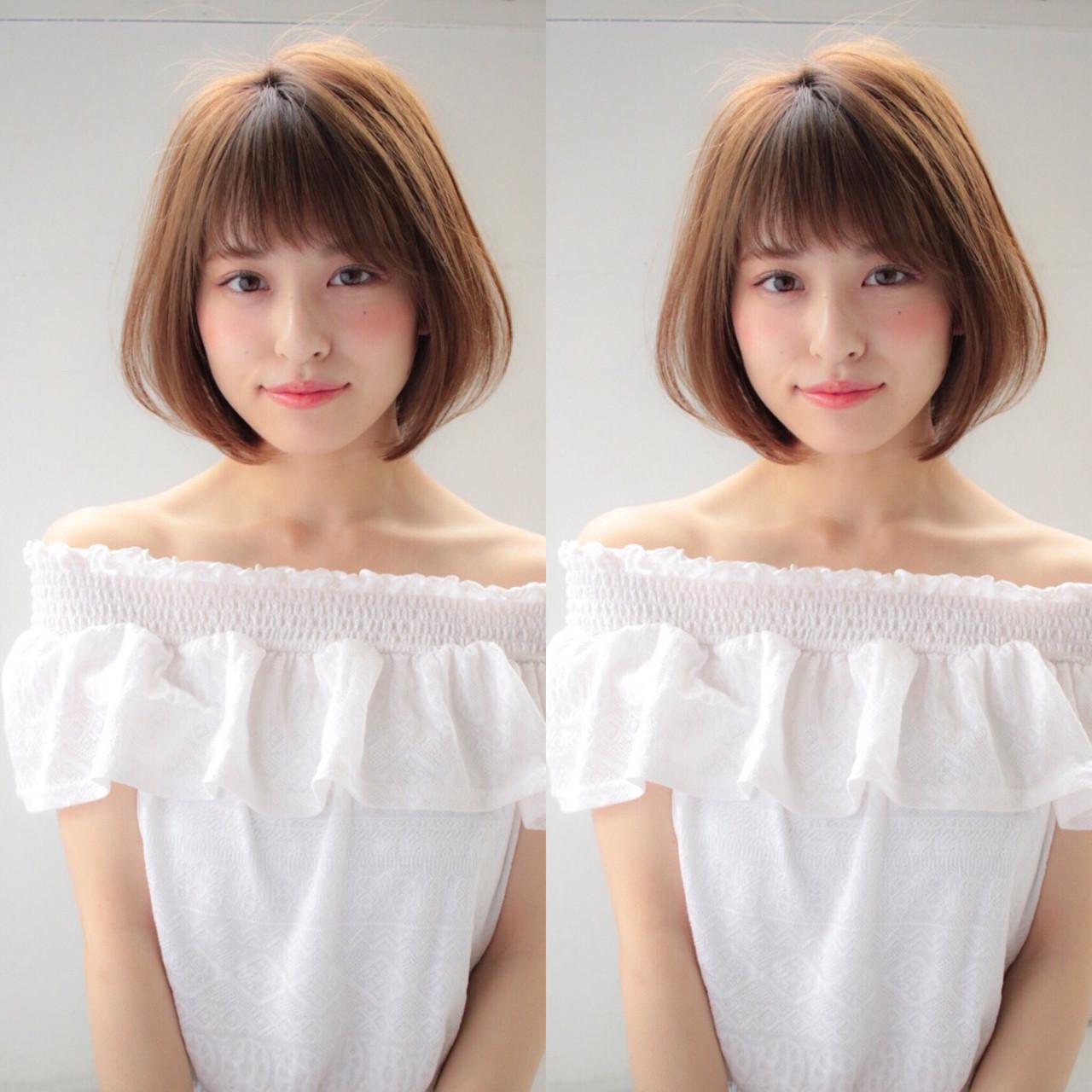 ショートボブ 小顔 大人かわいい かわいい ヘアスタイルや髪型の写真・画像 | 贄田清也 / Roamer