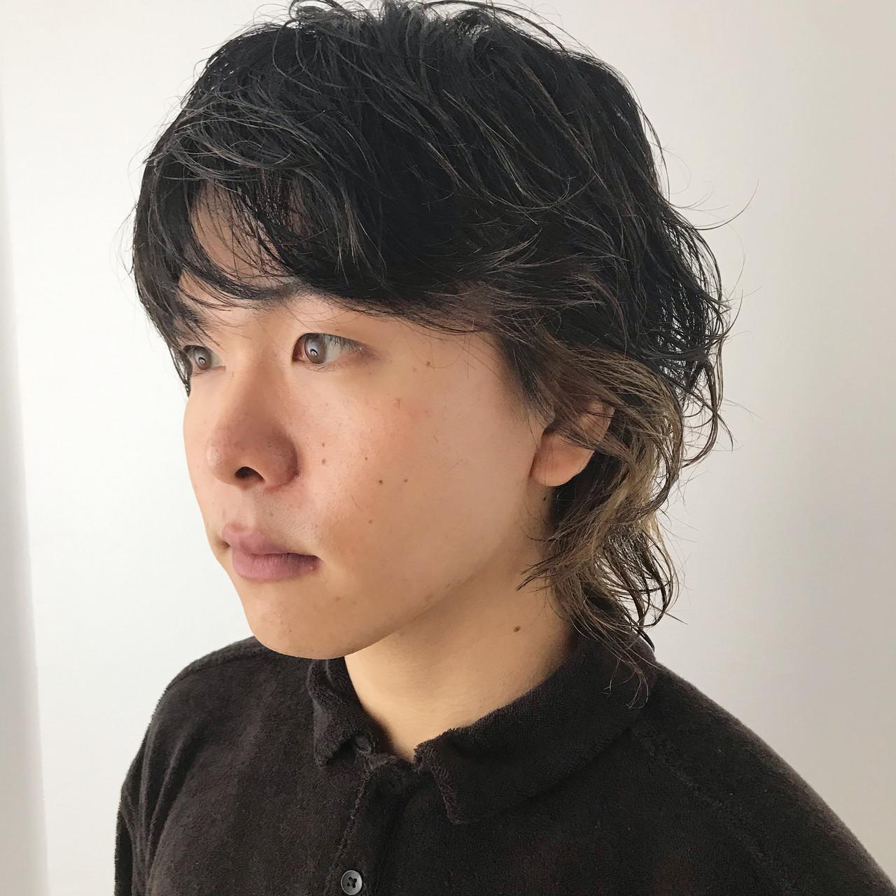 ウルフカット メンズカラー ストリート センターパート ヘアスタイルや髪型の写真・画像 | 澤江 啓司 / K-two KYOTO