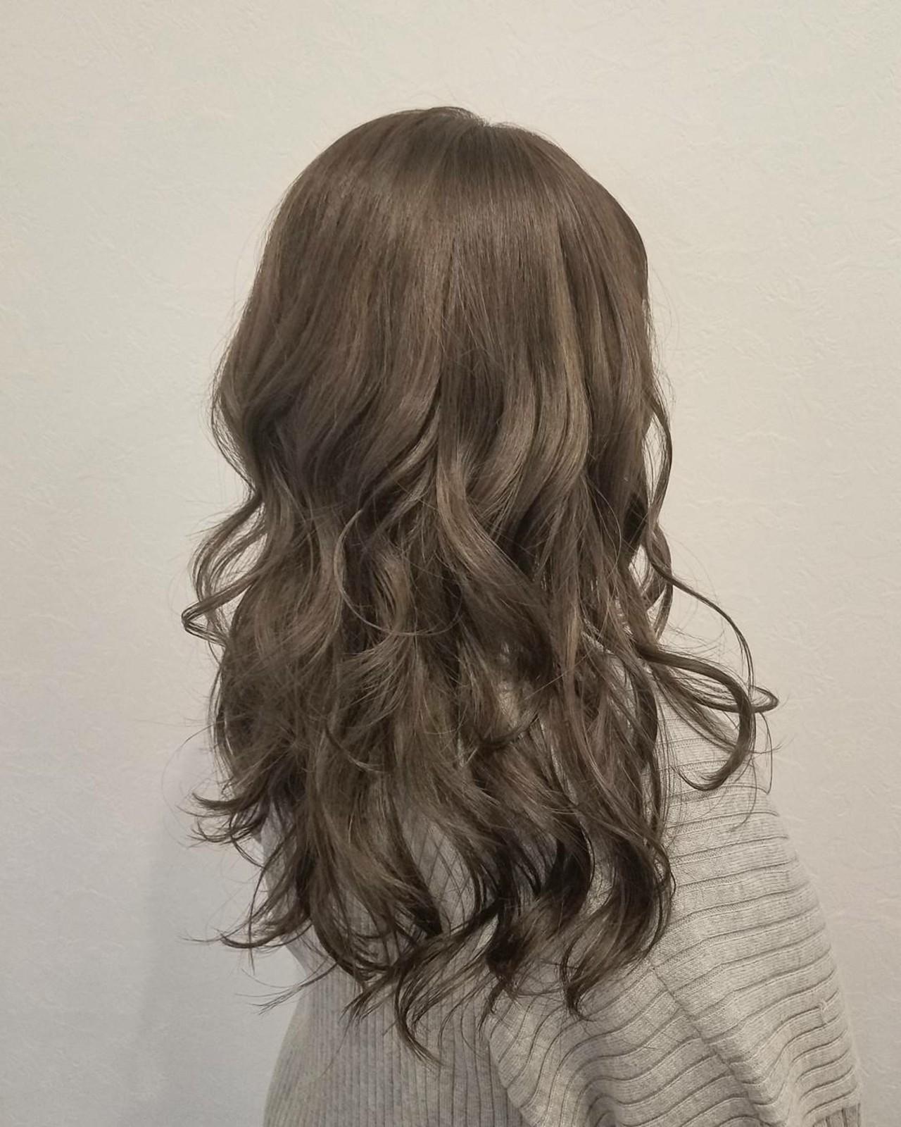 大人かわいい イルミナカラー ロング 透明感 ヘアスタイルや髪型の写真・画像 | 浅原 有輝 / rough