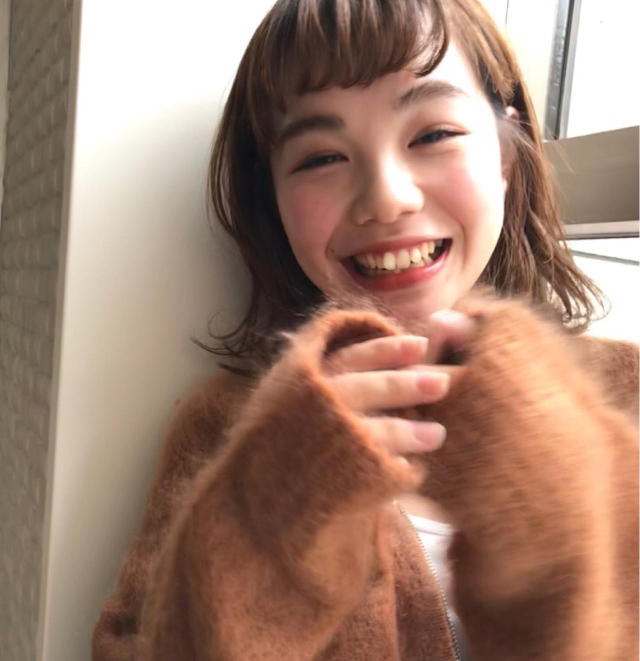 デート ボブ 前髪あり オン眉 ヘアスタイルや髪型の写真・画像   ファム(くせ毛特化型美容師) EnglishOK / Unami kichijoji