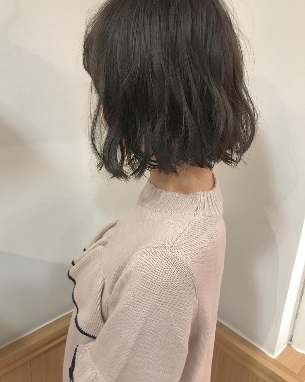 ロブ 透明感 秋 ナチュラル ヘアスタイルや髪型の写真・画像   KENTO.NOESALON / NOE SALON
