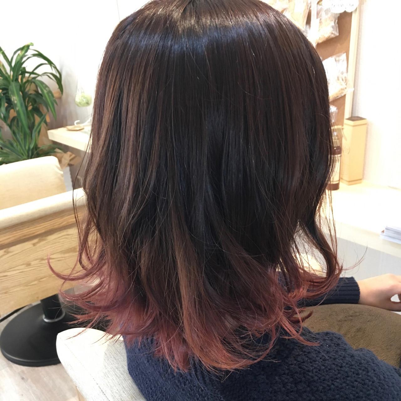 ピンク かわいい フェミニン ヘアアレンジ ヘアスタイルや髪型の写真・画像   minami / hair✂︎poco