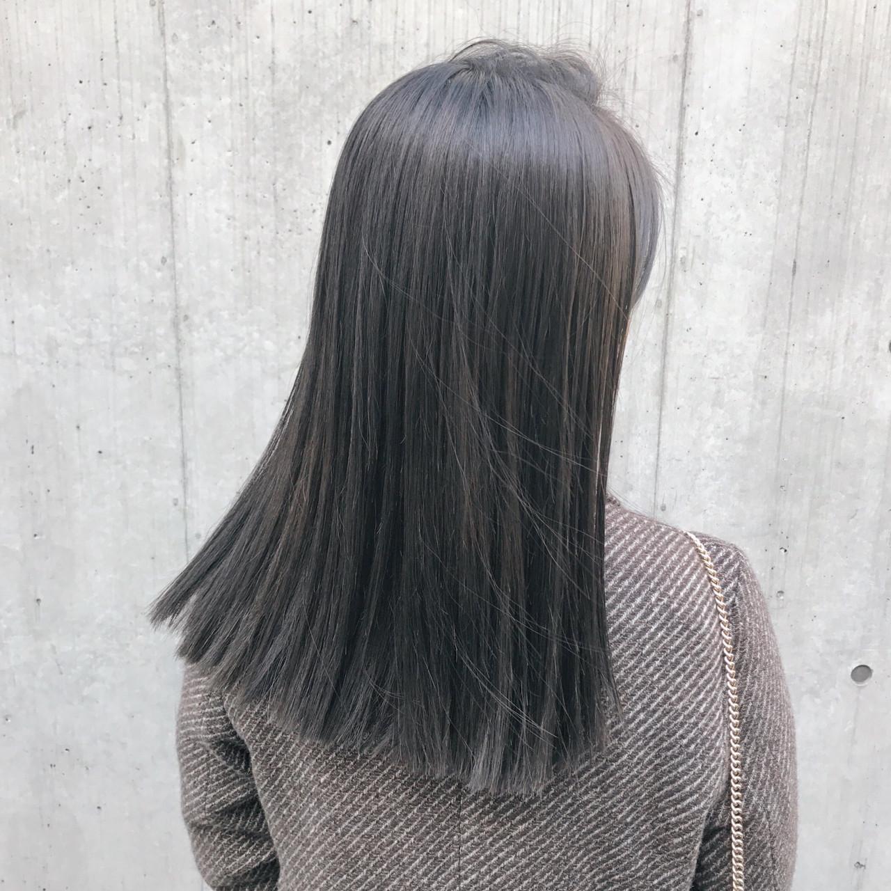 ブラントカット 切りっぱなし 簡単 ナチュラルヘアスタイルや髪型の写真・画像