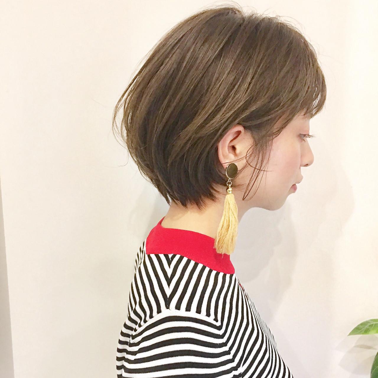 色気 前髪あり 大人かわいい ショート ヘアスタイルや髪型の写真・画像 | ショートボブの匠【 山内大成 】『i.hair』 / 『 i. 』 omotesando