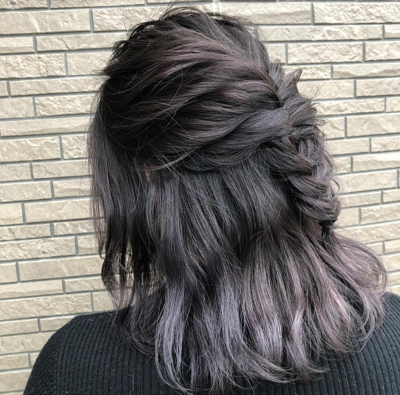 結婚式 外国人風カラー ボブ バレイヤージュ ヘアスタイルや髪型の写真・画像   アンドウ ユウ / Agu hair edge
