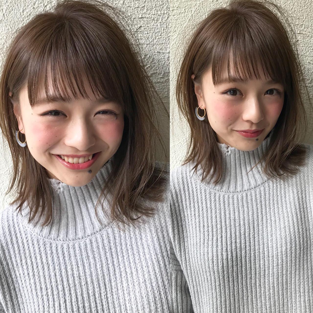 こなれ感 ナチュラル アンニュイ 外ハネ ヘアスタイルや髪型の写真・画像 | 切りっぱなしレイヤー&パーマ Un ami 増永 / Un ami omotesando