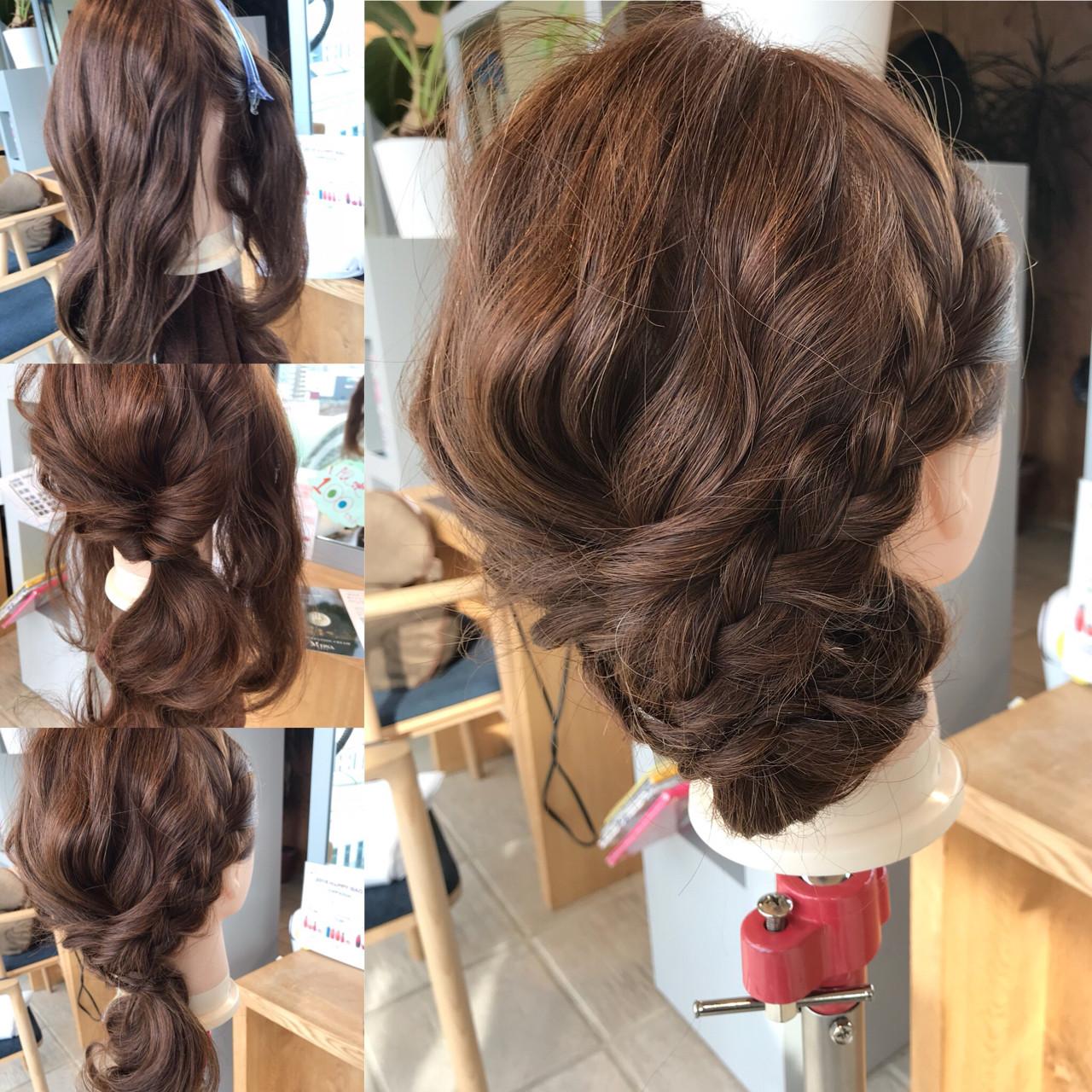 ショート 簡単ヘアアレンジ ナチュラル ロング ヘアスタイルや髪型の写真・画像 | YASU / hair salon M.plus ヨツバコ店 (ヘアーサロン エムプラス)