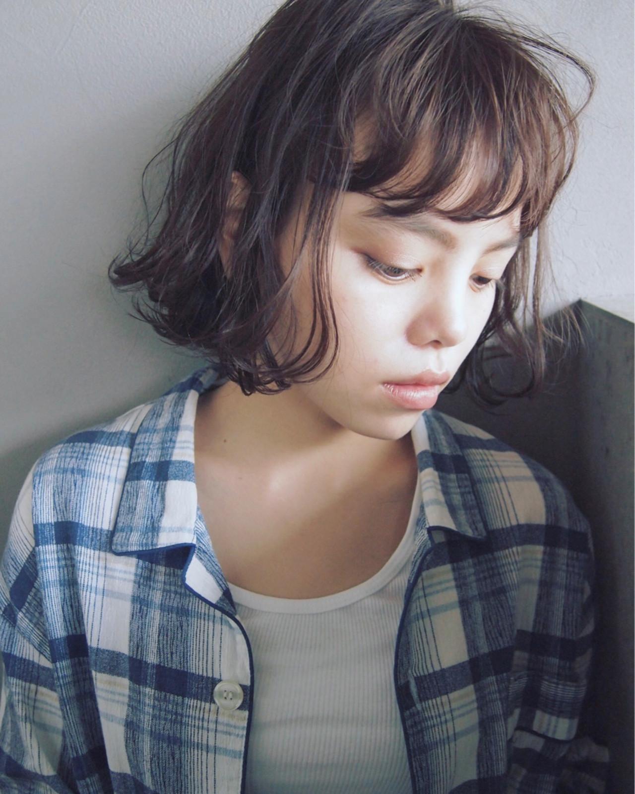 ニュアンス ボブ 色気 大人女子 ヘアスタイルや髪型の写真・画像 | UEKI/nanuk / nanuk二子玉川