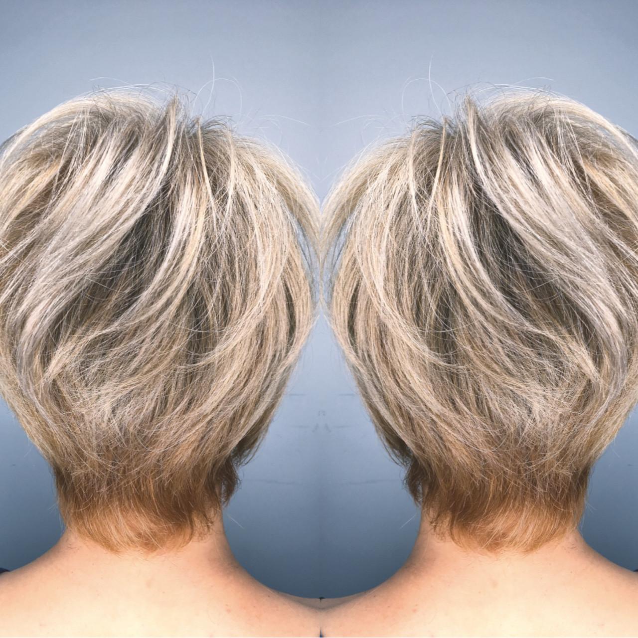 モード ハイライト ショート ハイトーン ヘアスタイルや髪型の写真・画像 | 筒井 隆由 / Hair salon mode