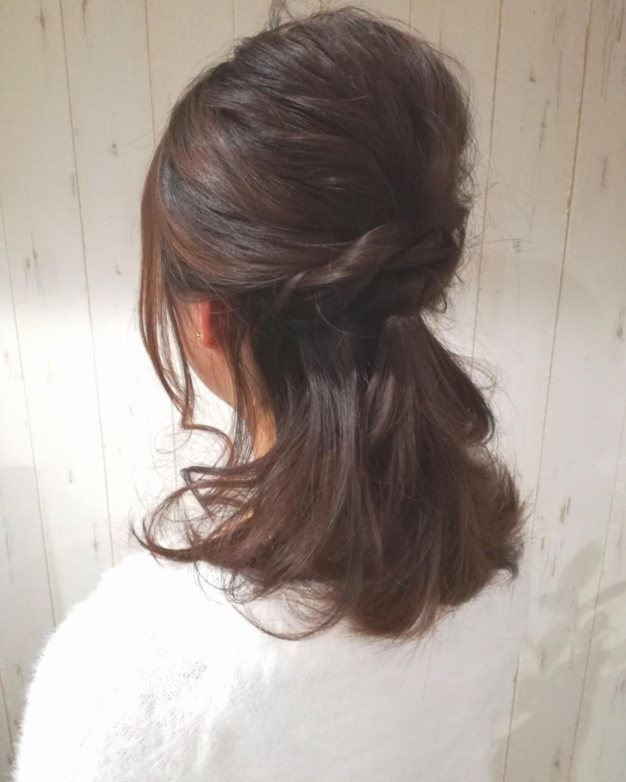 二次会 セミロング 結婚式 ラフ ヘアスタイルや髪型の写真・画像   西川 敏夫 / Any