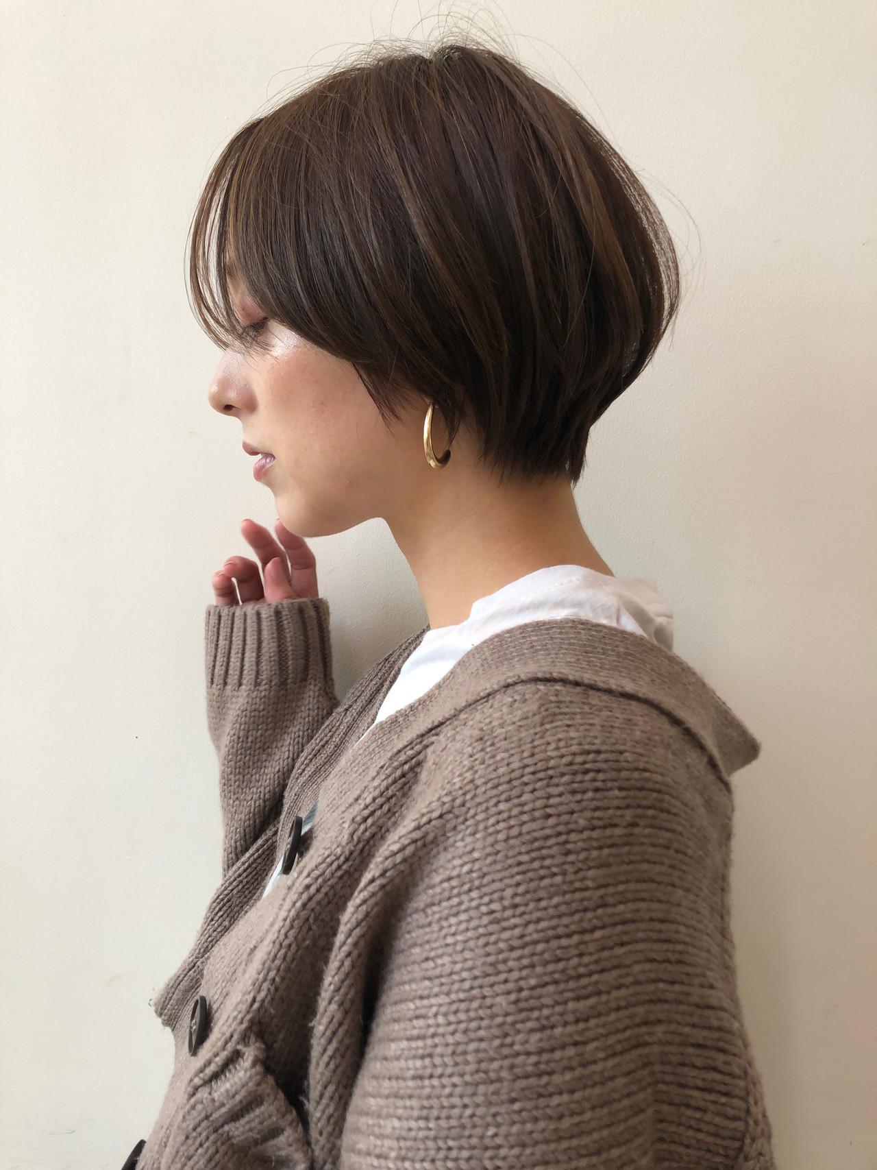 ショートボブ ナチュラル ミニボブ ベリーショートヘアスタイルや髪型の写真・画像