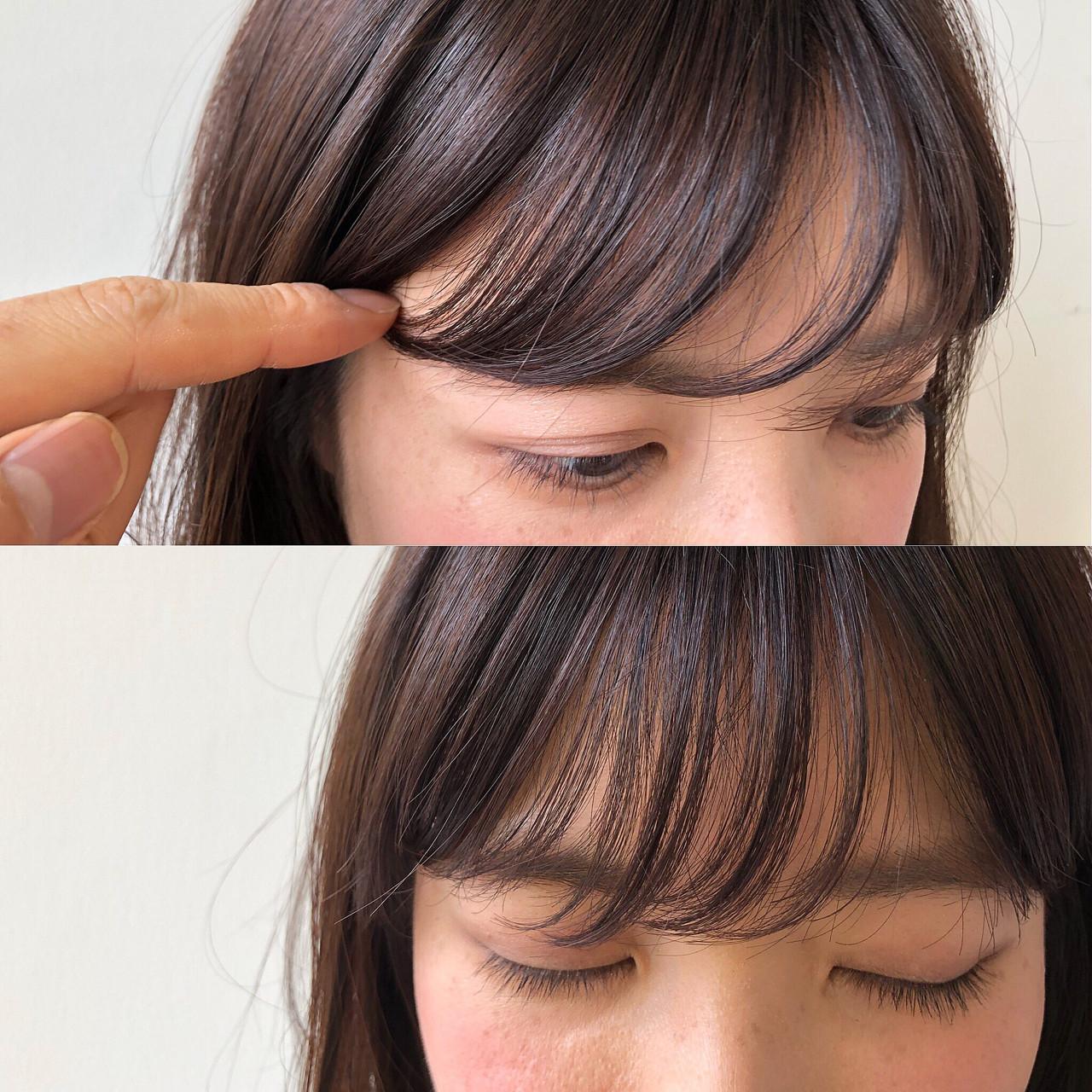 フリンジバング 前髪あり 流し前髪 シースルーバング ヘアスタイルや髪型の写真・画像 | 大沼圭吾 / GARDEN harajuku