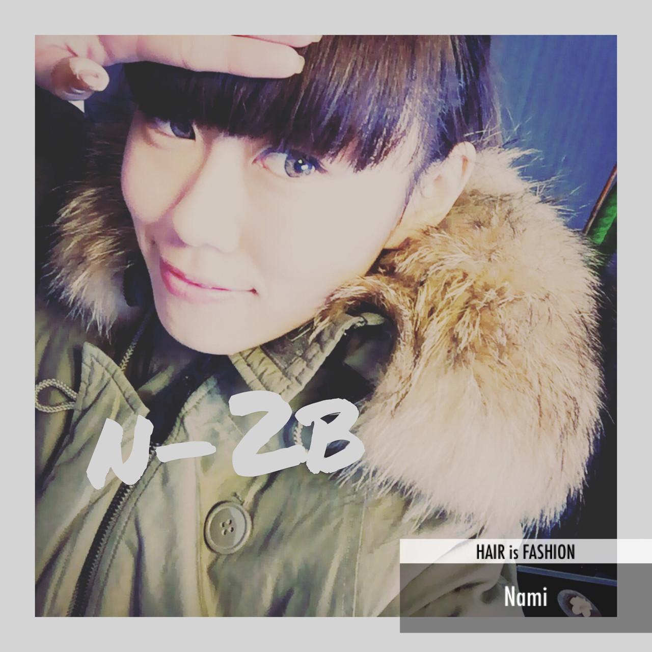 ミディアム ヘアアレンジ ポニーテール オン眉 ヘアスタイルや髪型の写真・画像   Nami /