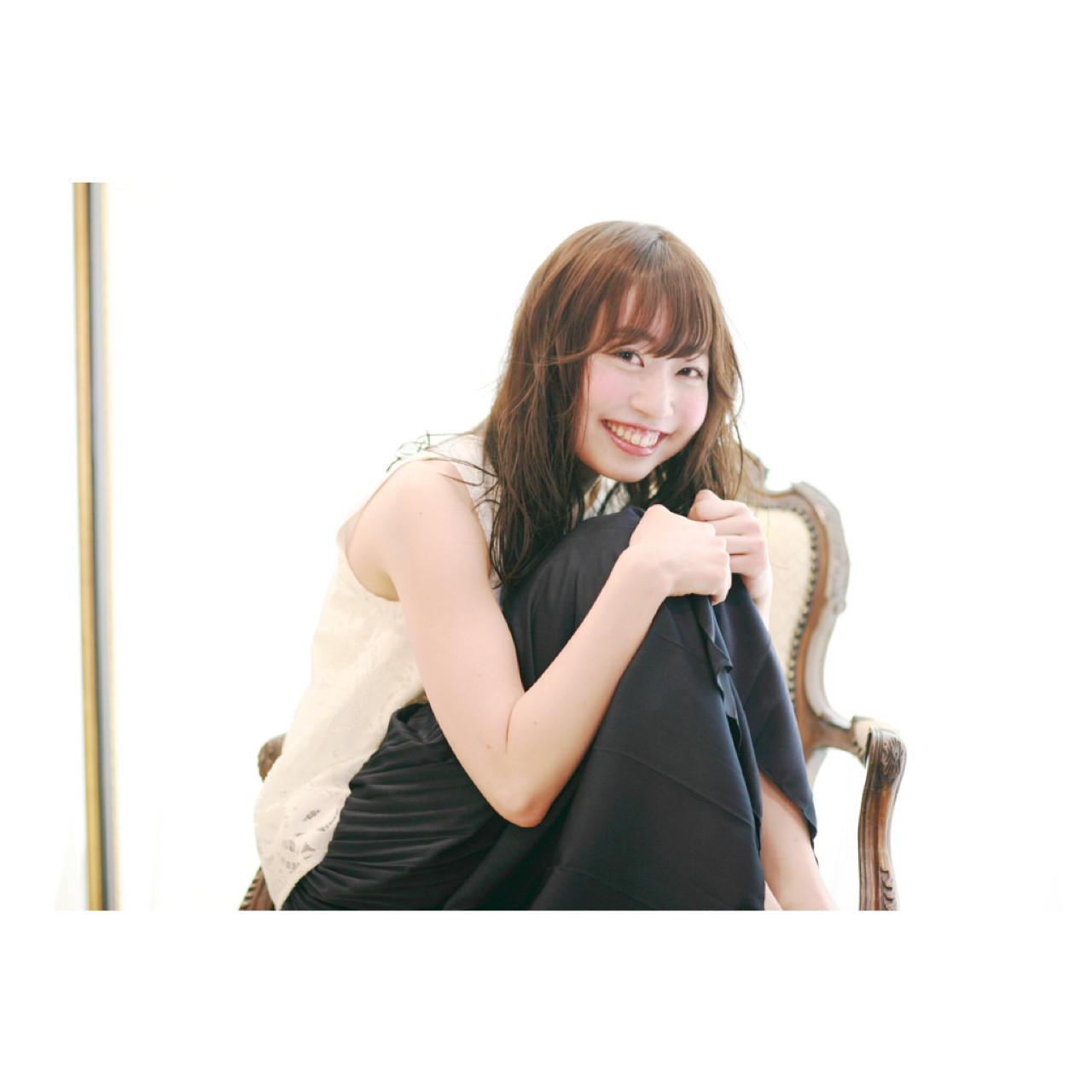 前髪あり ラベンダーアッシュ フェザーバング ミディアム ヘアスタイルや髪型の写真・画像 | 吉川 知志 / MA MAISON PRIVEE DE REVES