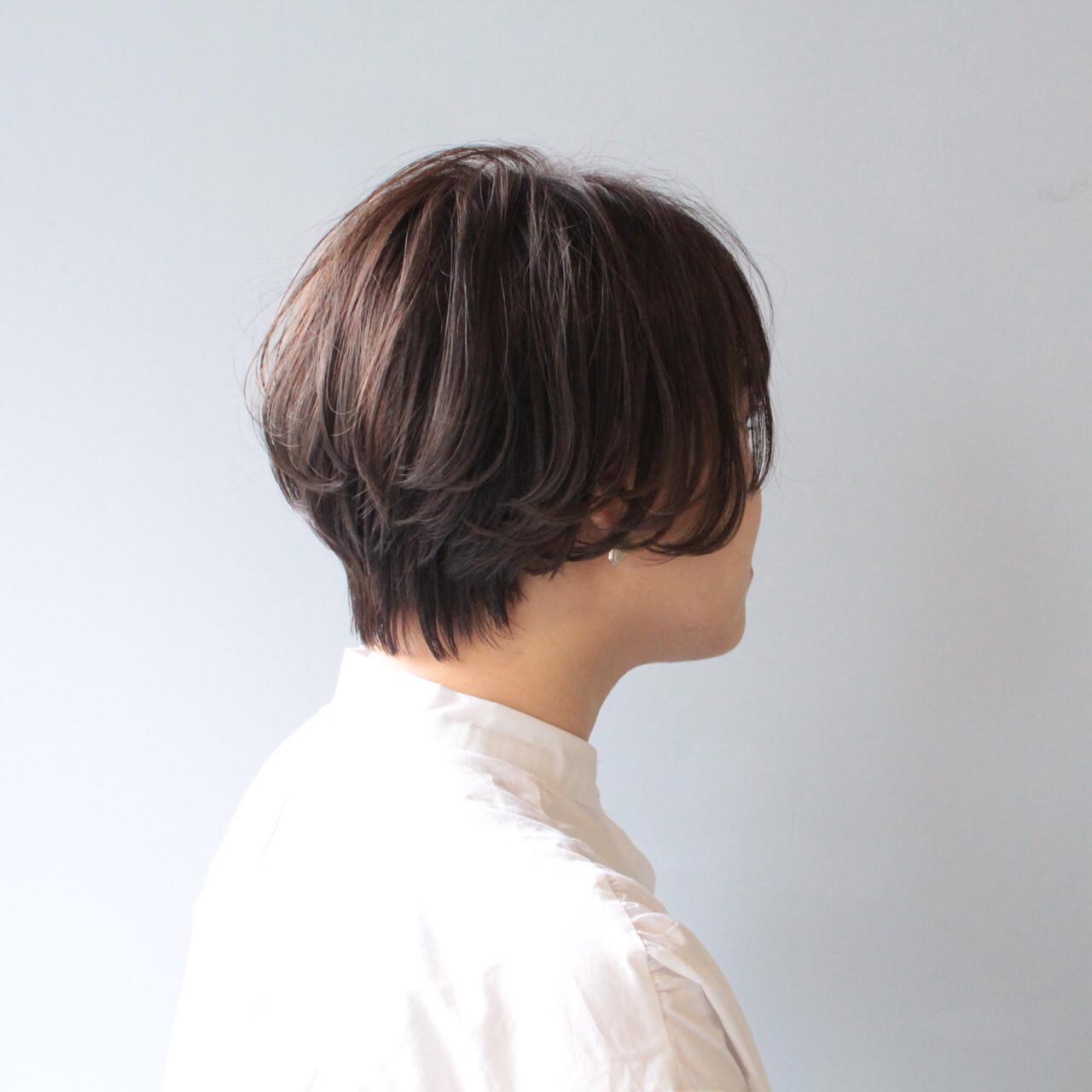 黒髪 ショートボブ ショート ナチュラル ヘアスタイルや髪型の写真・画像 | 【ショート&ショートボブはお任せください】淺川聖 / parc sapporo