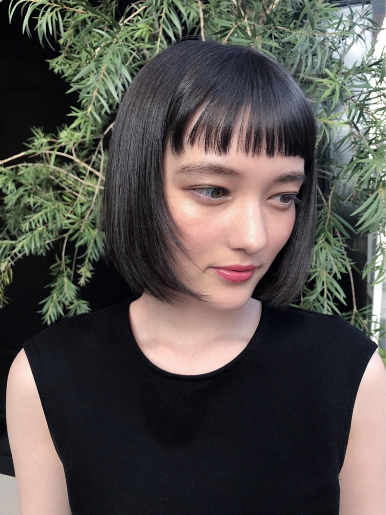 リラックス ボブ ナチュラル 黒髪 ヘアスタイルや髪型の写真・画像 | 芦原照成 / Nicole.