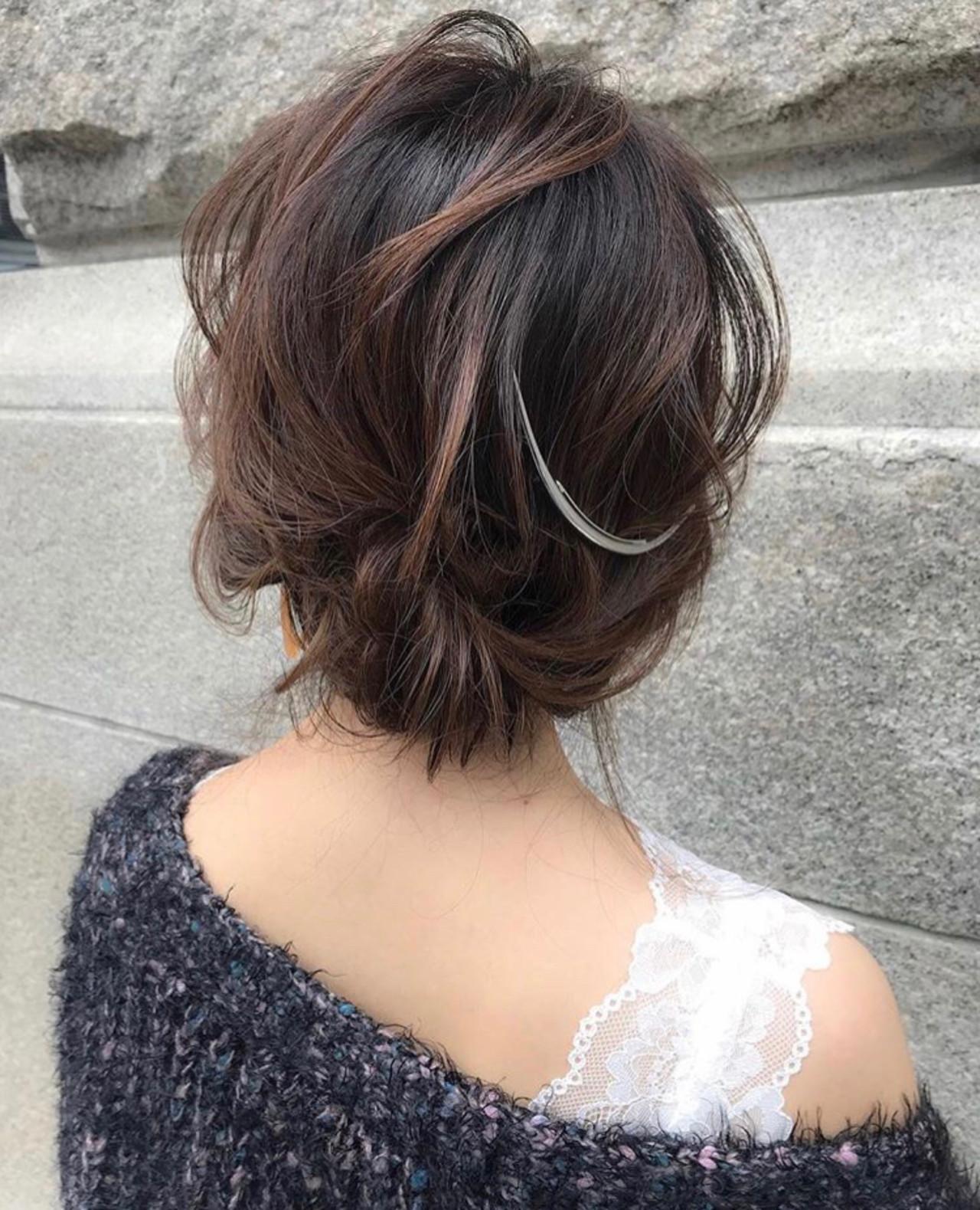 ミディアム 結婚式 デート ナチュラル ヘアスタイルや髪型の写真・画像 | 三木 奨太 / hair set salon  IRIS