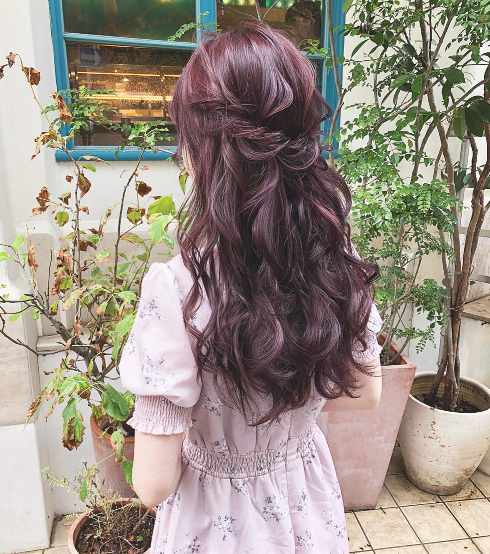 結婚式 大人可愛い ロング ヘアアレンジ ヘアスタイルや髪型の写真・画像 | hii.de@✂︎ / Maison de sisi