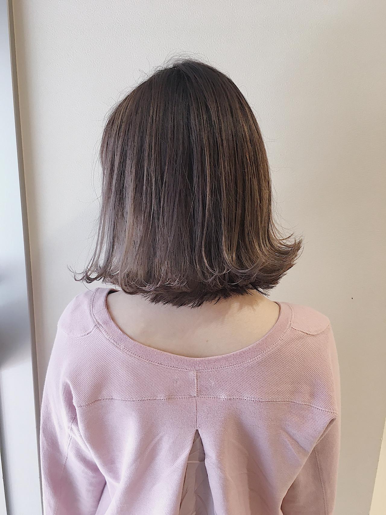 ボブ 3Dハイライト コントラストハイライト ナチュラル ヘアスタイルや髪型の写真・画像   《町田の美容師》キタダヒロキ / Hair Frais Make