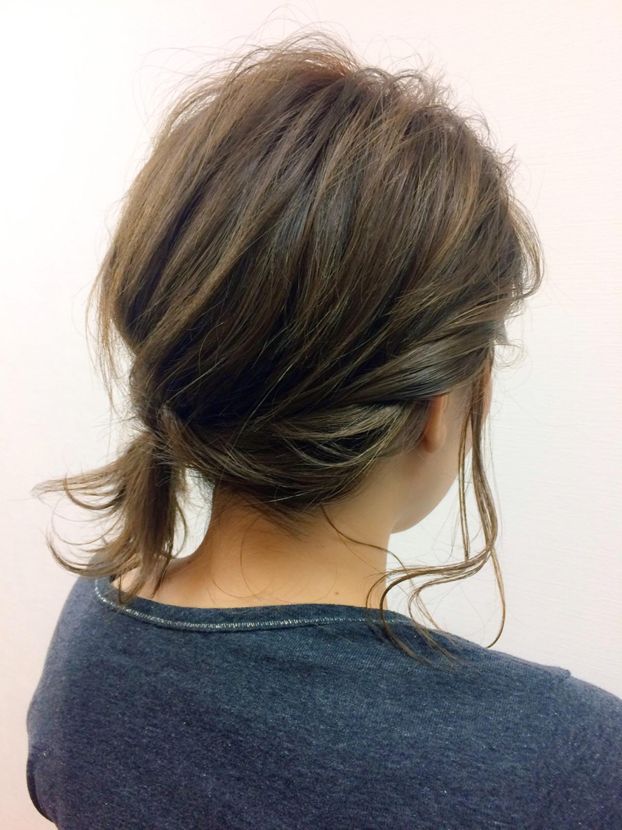 大人かわいい ミディアム ヘアアクセ ヘアアレンジ ヘアスタイルや髪型の写真・画像 | 木下 光治 / angle