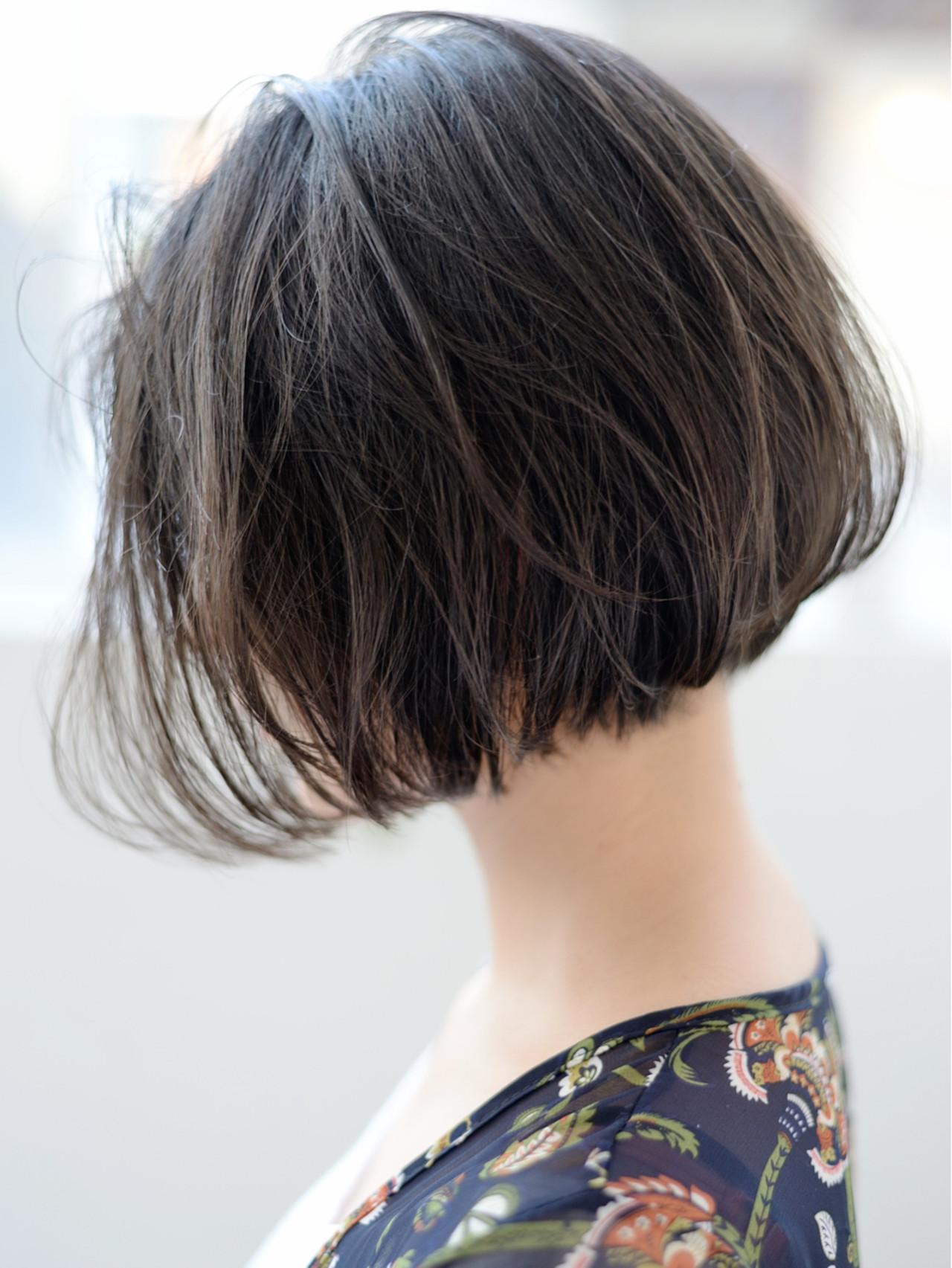 アッシュグレージュ ショート アッシュ ボブ ヘアスタイルや髪型の写真・画像 | 郡司 泰之 / ROJITHA 原宿 / ROJITHA