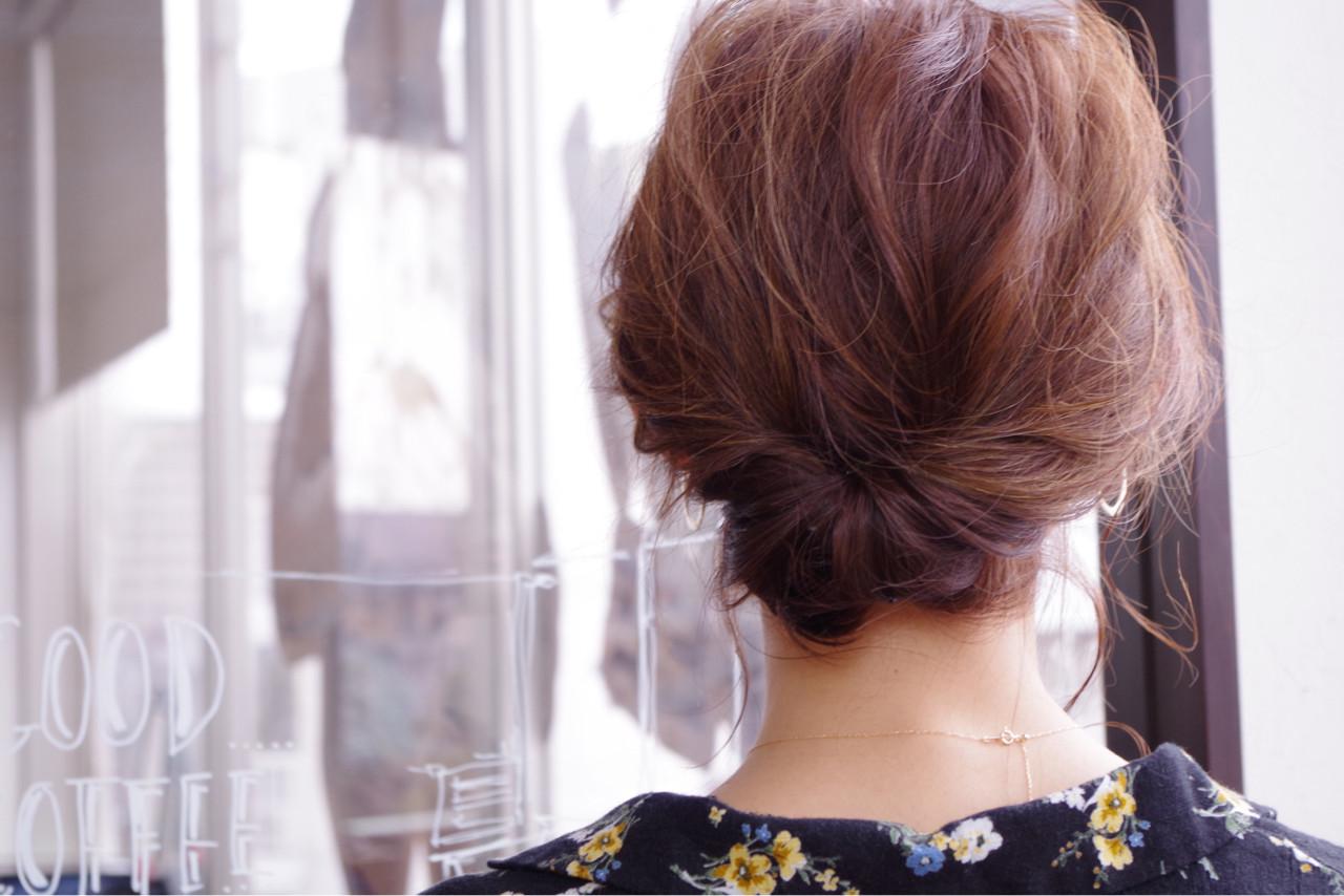 フェミニン ミディアム 結婚式 こなれ感ヘアスタイルや髪型の写真・画像