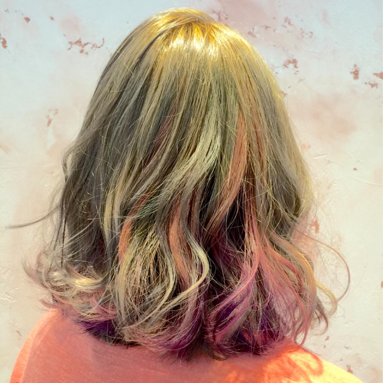 グラデーションカラー 外国人風 ゆるふわ ハイライト ヘアスタイルや髪型の写真・画像   Junta Kano / hair salon Rien 鴻巣店