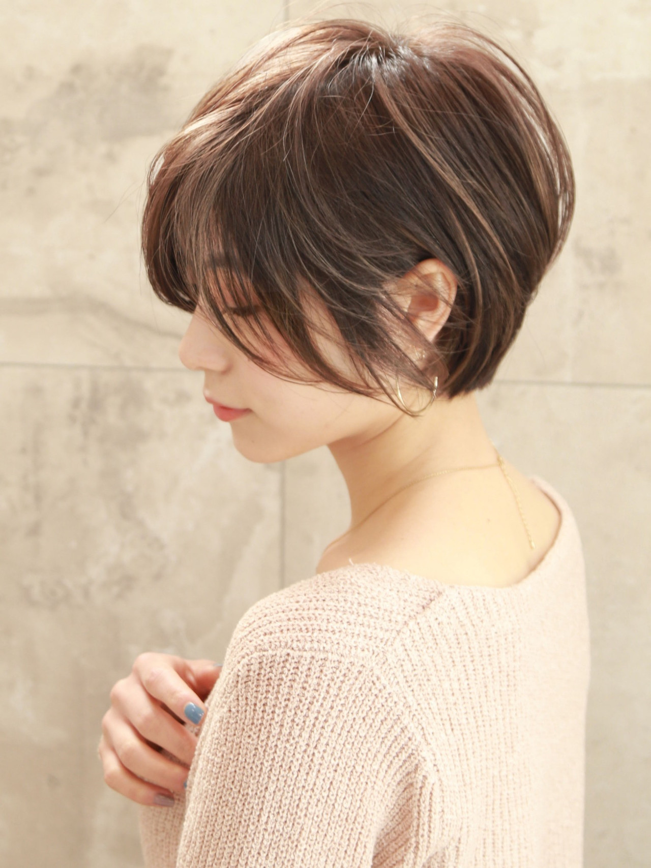 デジタルパーマ ショート ナチュラル ショートボブ ヘアスタイルや髪型の写真・画像 | いしばしなおや / &STORIES 表参道
