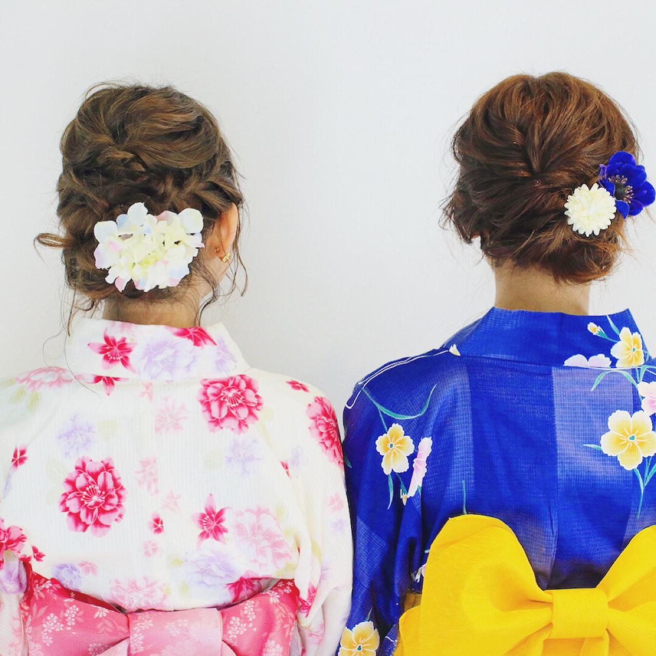 花火大会 デート 夏 セミロング ヘアスタイルや髪型の写真・画像 | 美容師HIRO/Amoute代表 / Amoute/アムティ