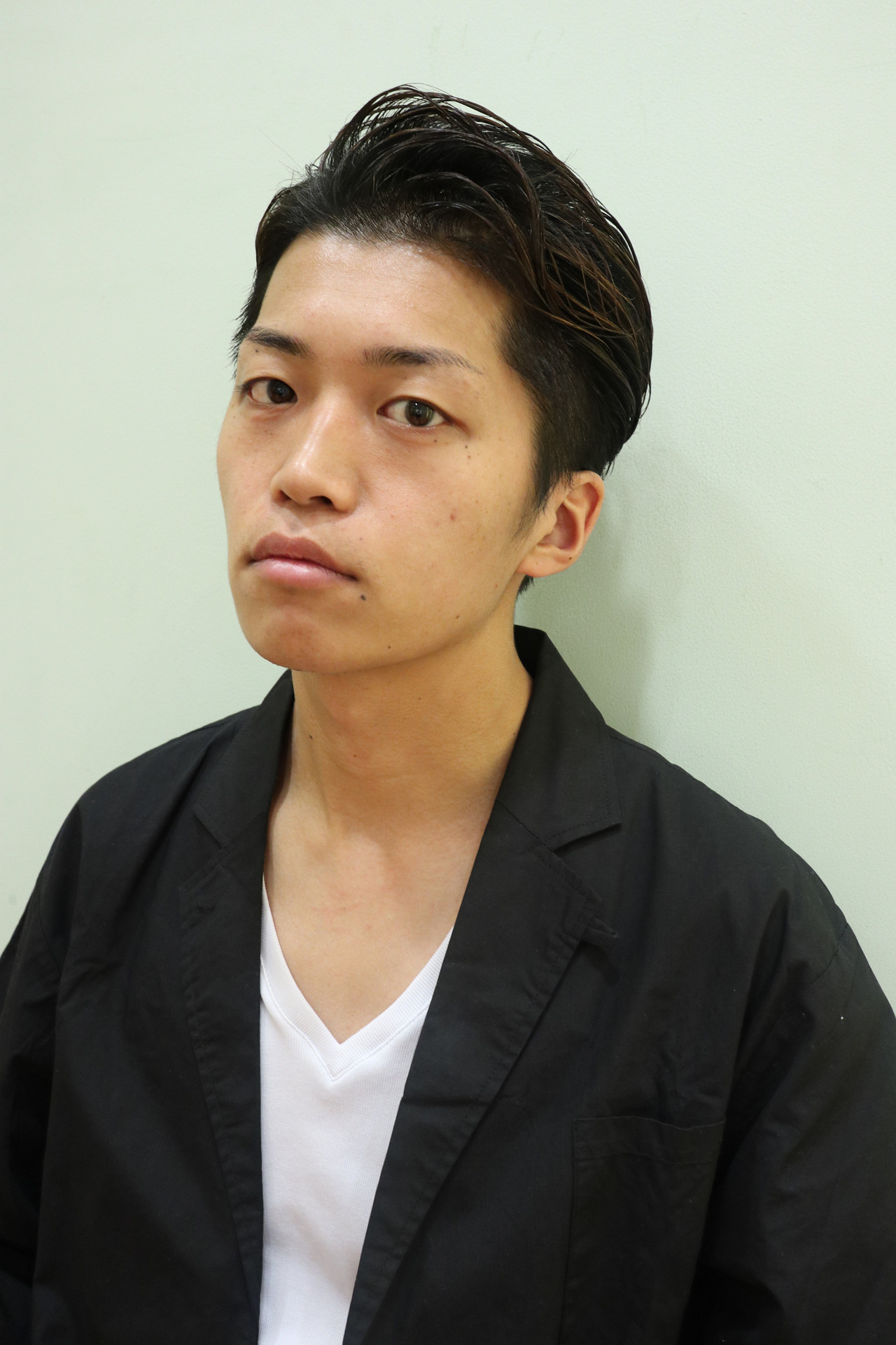メンズ ショート ナチュラル ウェットヘア ヘアスタイルや髪型の写真・画像 | 勝永 智基 / BEAUTRIUM  265