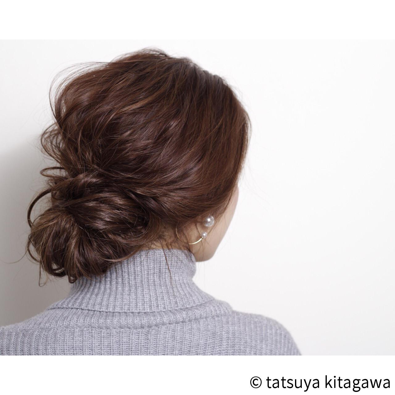 簡単ヘアアレンジ ショート ハイライト ロング ヘアスタイルや髪型の写真・画像   tatsuya kitagawa / clarity 京都駅前本店