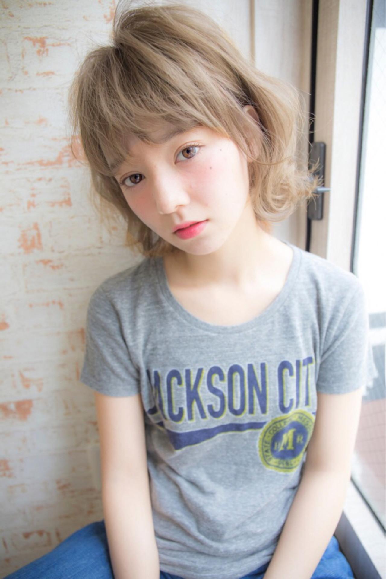 アッシュ ストリート 大人かわいい 外国人風 ヘアスタイルや髪型の写真・画像 | 堀伸裕 / Gem Garden