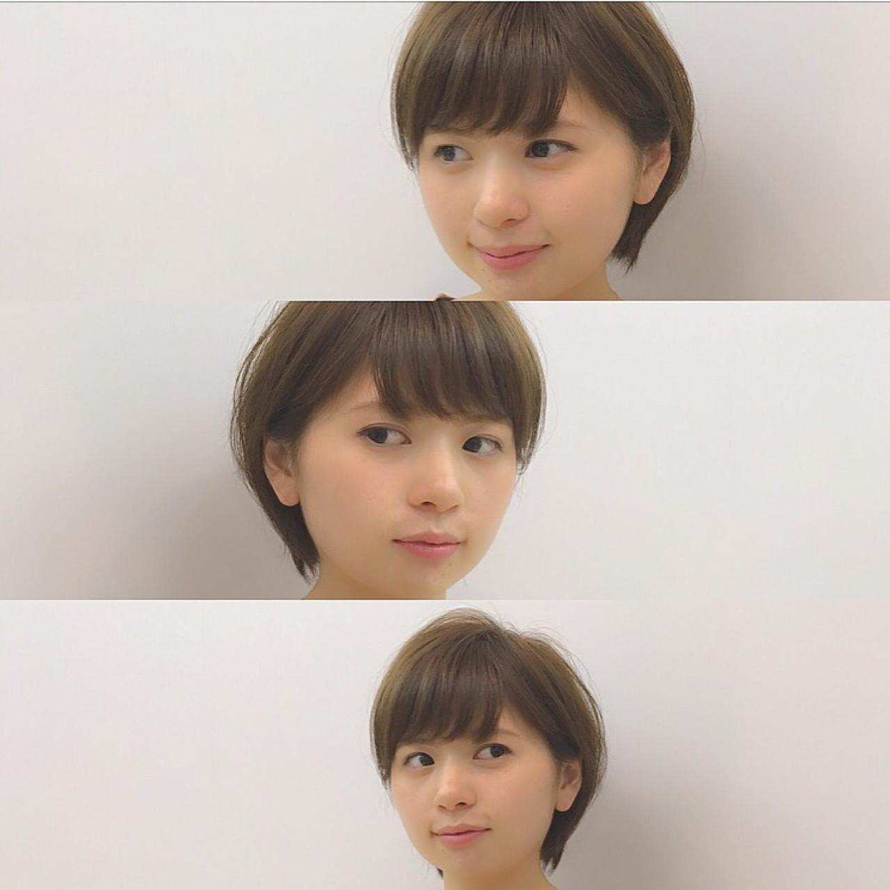 ボブ 耳かけ 小顔 ショートボブ ヘアスタイルや髪型の写真・画像 | Chiaki Mori / M.SLASH FIEL