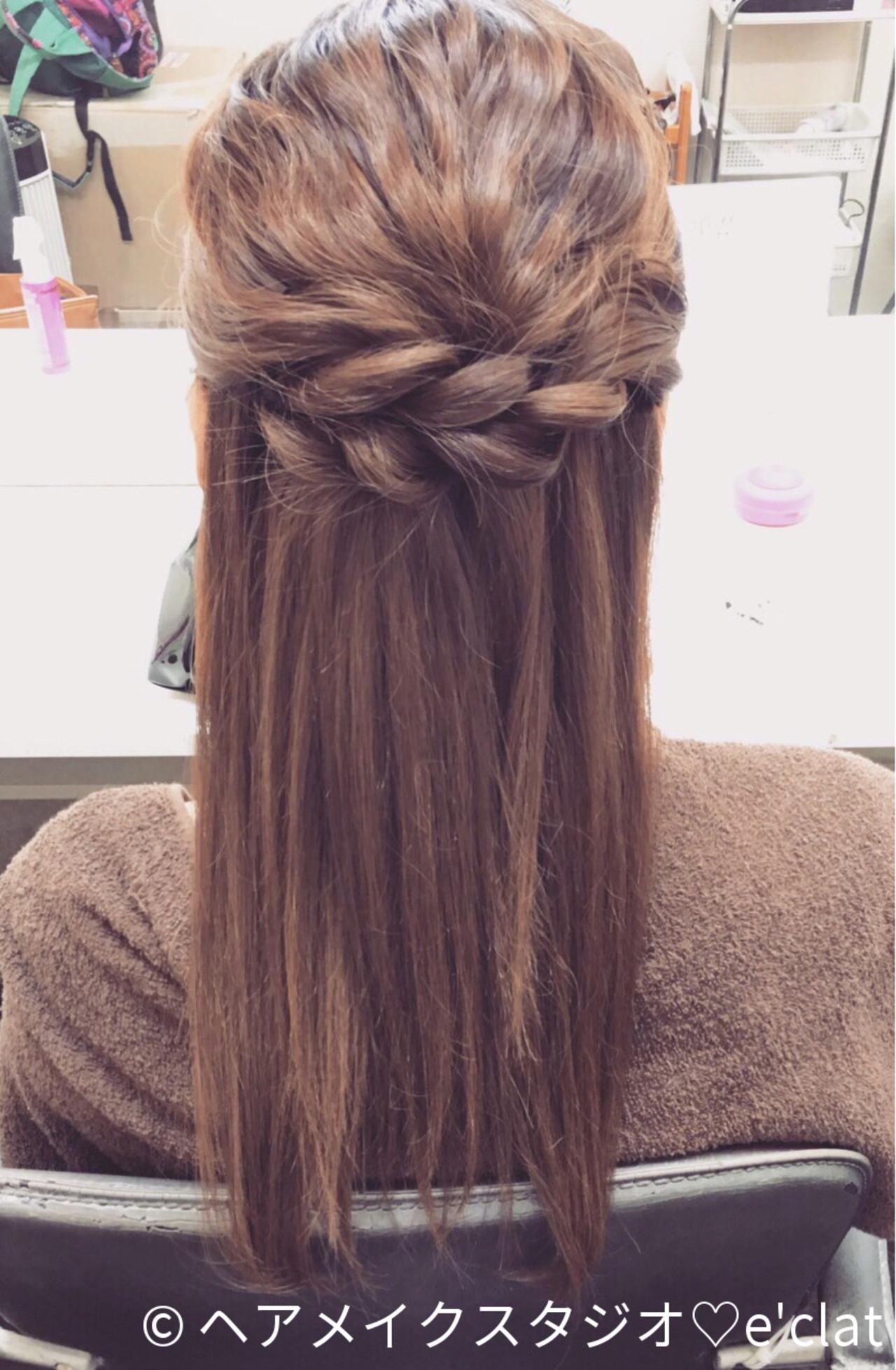 ショート ハーフアップ 梅雨 ロング ヘアスタイルや髪型の写真・画像 | ヘアメイクスタジオ♡e'clat / ヘアメイクスタジオ♡e'clat