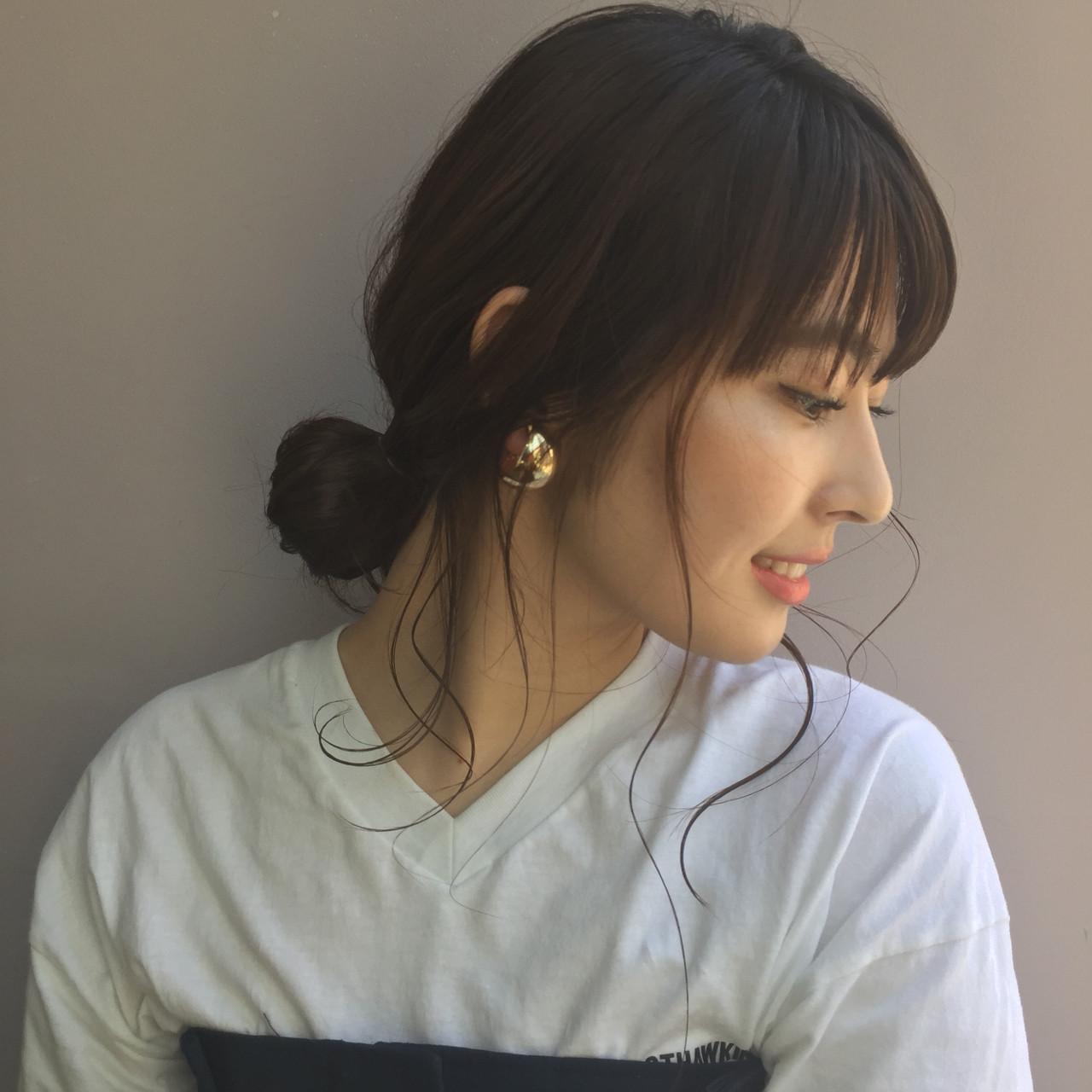 ナチュラル アウトドア 簡単ヘアアレンジ セミロング ヘアスタイルや髪型の写真・画像 | GARDEN《ショート/ベージュ》雲林院 優 / lora.garden