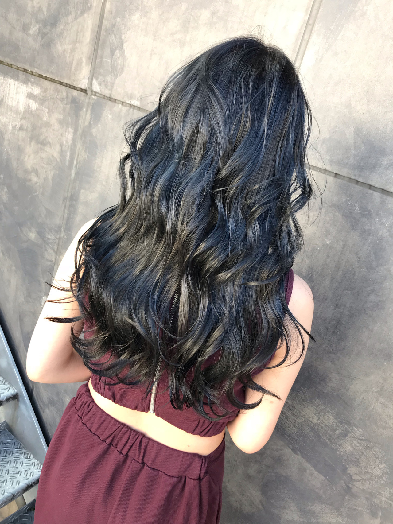 ネイビー コリアンネイビー ネイビーブルー ネイビーアッシュ ヘアスタイルや髪型の写真・画像 | TOMOYA / FOLK フォーク 恵比寿