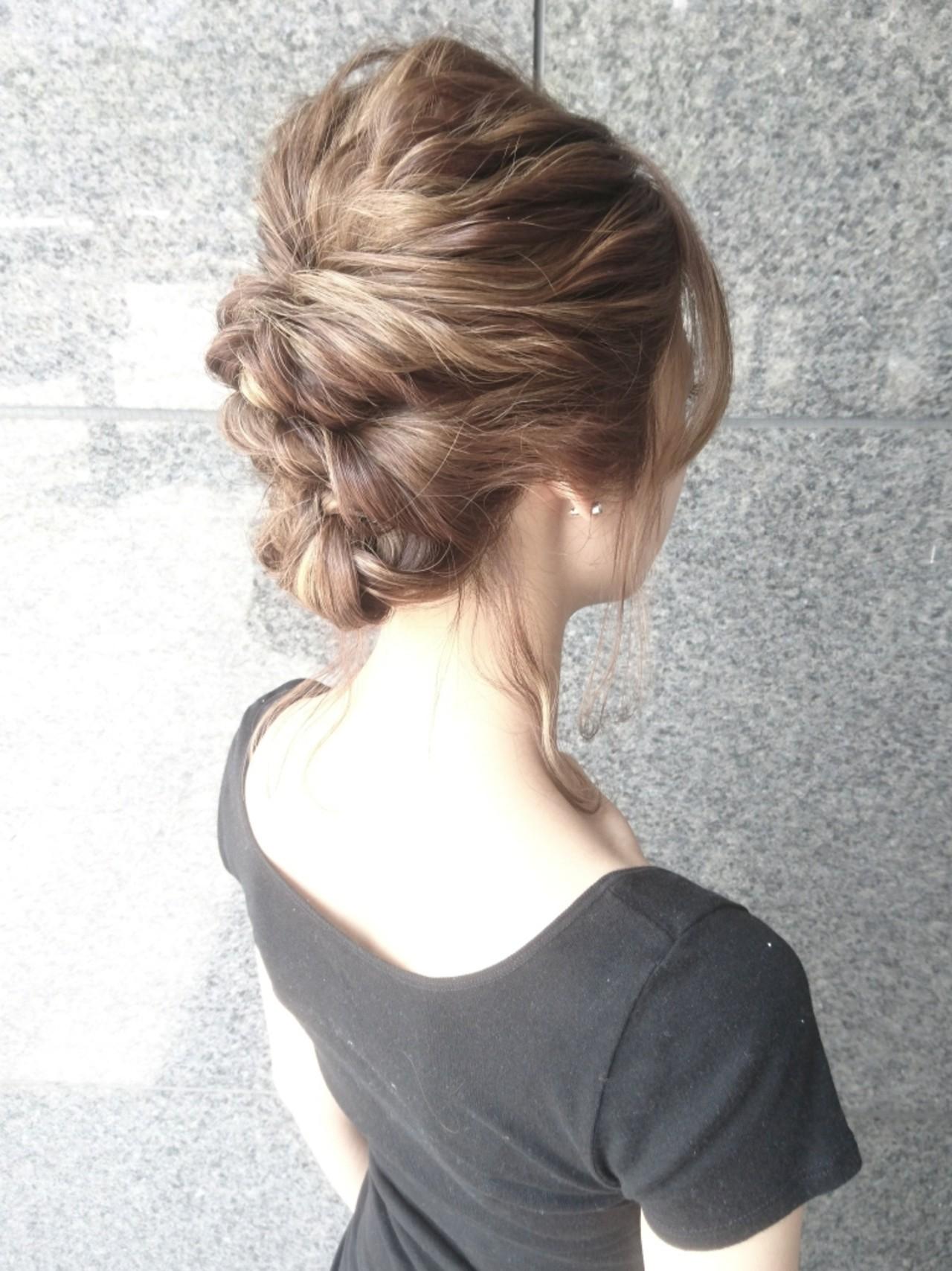 ゆるふわ 結婚式 上品 こなれ感 ヘアスタイルや髪型の写真・画像 | 島田 和也 / hair&spa feliceMICHI