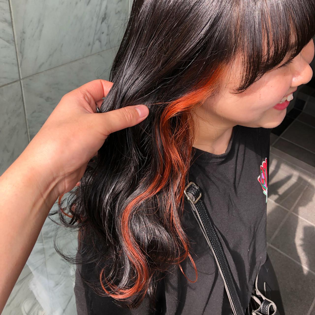 ストリート 韓国ヘア ロング 外国人風カラー ヘアスタイルや髪型の写真・画像 | yoshiki / float 天神橋