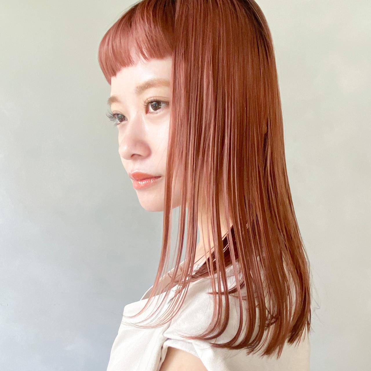 こなれ感 ガーリー アンニュイ セミロング ヘアスタイルや髪型の写真・画像