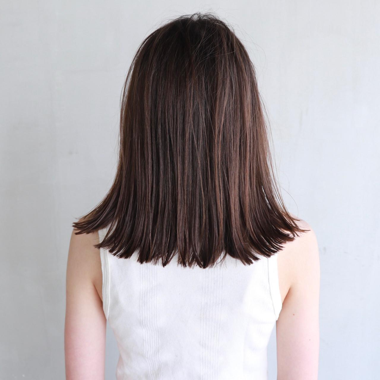 ミディアム 抜け感 ナチュラル 透明感 ヘアスタイルや髪型の写真・画像 | 井野 米子 / MELLOW