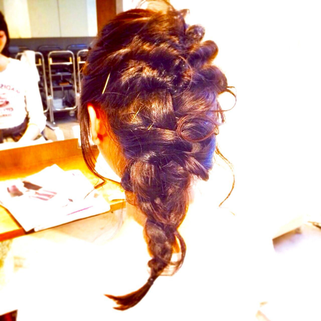 愛され 大人かわいい コンサバ 簡単ヘアアレンジ ヘアスタイルや髪型の写真・画像 | 中山 真由美 /