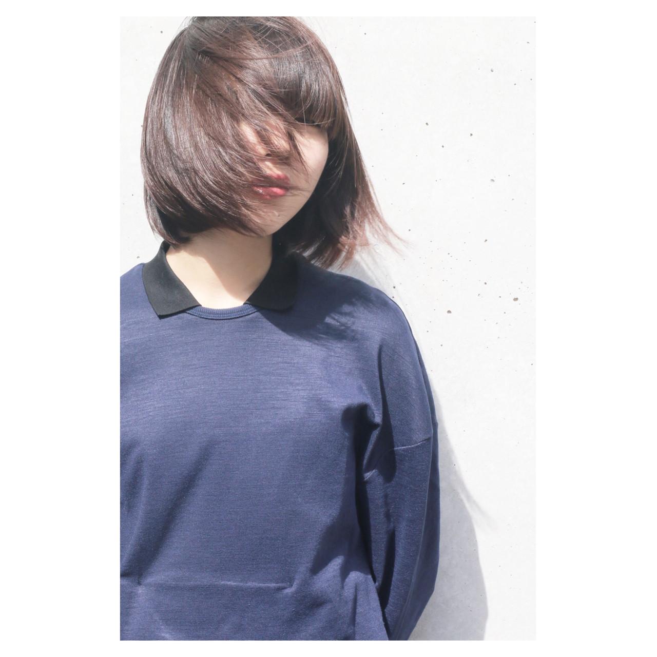 大人女子 かっこいい ショート 切りっぱなし ヘアスタイルや髪型の写真・画像 | ショート職人 伊藤修久 【#tag】 / 株)92  #tag